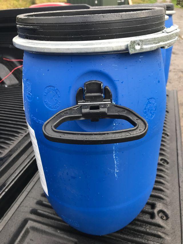 30 Ltr blue barrels x 3