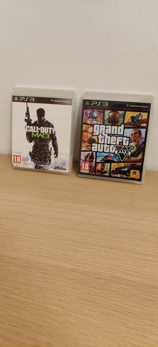 """GTA V + COD: Modern Warfare 3. """"PS3"""""""