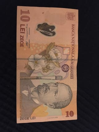 Billetes extranjeros - lei rumanos