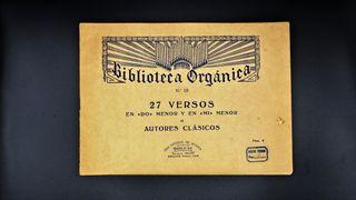 Antigua partitura musical 27 versos, España