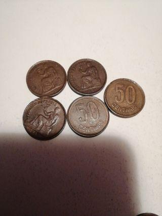 lote Monedas 50 céntimos año 1937