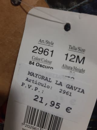 falda vaquera mayoral 12meses nueva