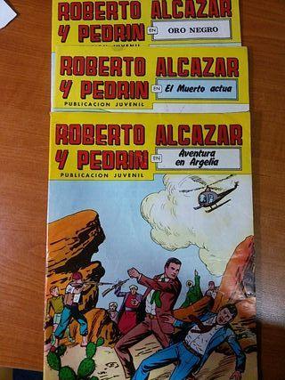 comics Roberto alcázar y pedrin 3 números