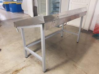 mostrador pescado acero inox 1.50m