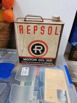 antigua lata de aceite repsol