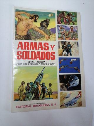 album de cromos armas y soldados