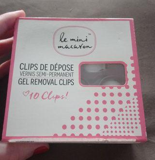 Clips para retirar el gel de Le mini macaron