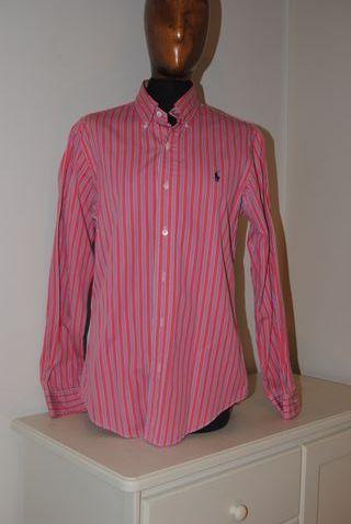 Camisa Lisa a Rayas Rosas