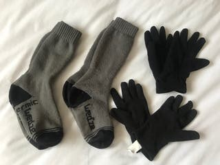 Pack calcetines nieve + guantes forro