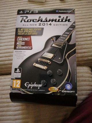 Juego ps3 Rocksmith + cable