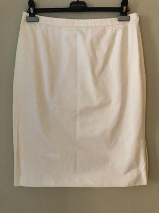 Falda Midi algodón crema