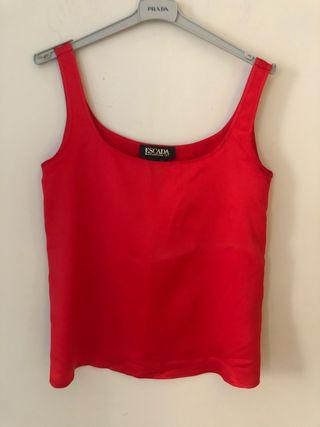 Camiseta seda rojo escada