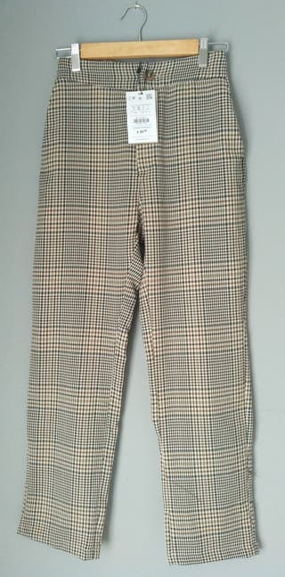 Pantalones de vestir estampado cuadros
