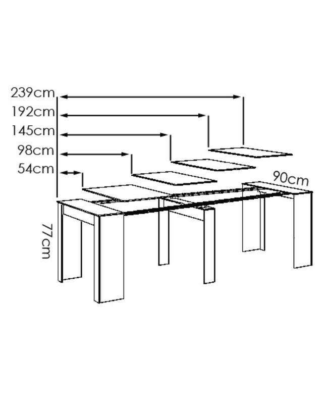 Mesa extensible tono roble natural