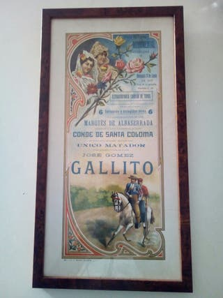 cartel dela plaza de toros de Barcelona.