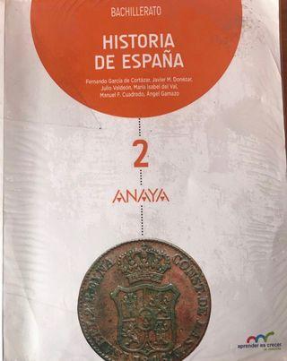 HISTORIA DE ESPAÑA 2 BACHILLERATO. ANAYA