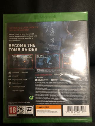 Shadow of the tomb raider unopened Xbox one