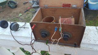 Radio Galena con auriculares originales