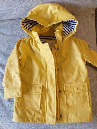 Chubasquero bebé amarillo