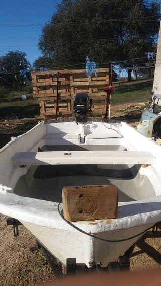 Barca de fibra ,motor,y remolque