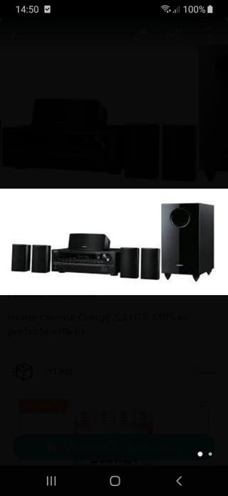 Onkyo home cinema y amplificador