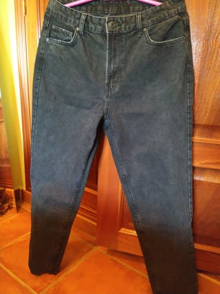 JEANS MOM NEGROS - 40