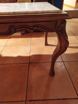 mesa auxiliar marmol