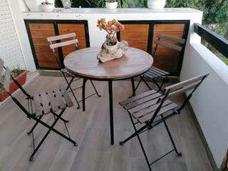 Juego de mesa de jardín con sillas