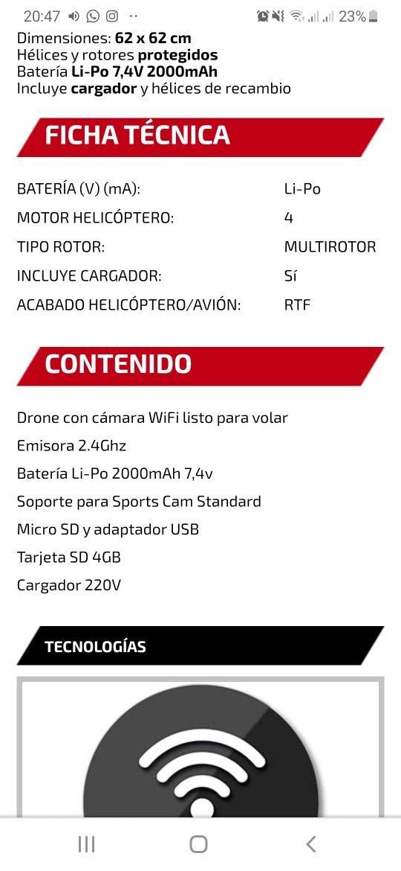 drone con cámara profesional