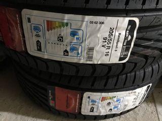 2 Neumáticos 205/55R16 Unirroyal