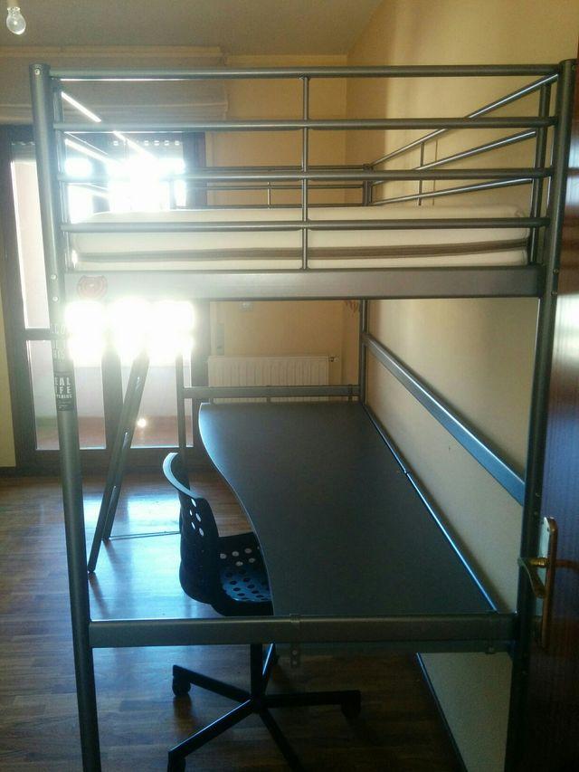 Dormitorio litera con escritorio