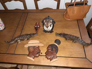 Figuras artesanales de madera Maciza