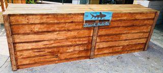 Barras de bar mostradores en madera de palet