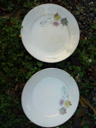 Platos de cerámica de La Cartuja