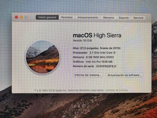 Ordenador iMac 21,5
