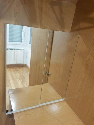 Mueble baño espejos pared