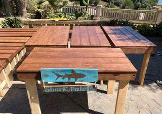 Mesas y sobres hostelería madera palet inter exter