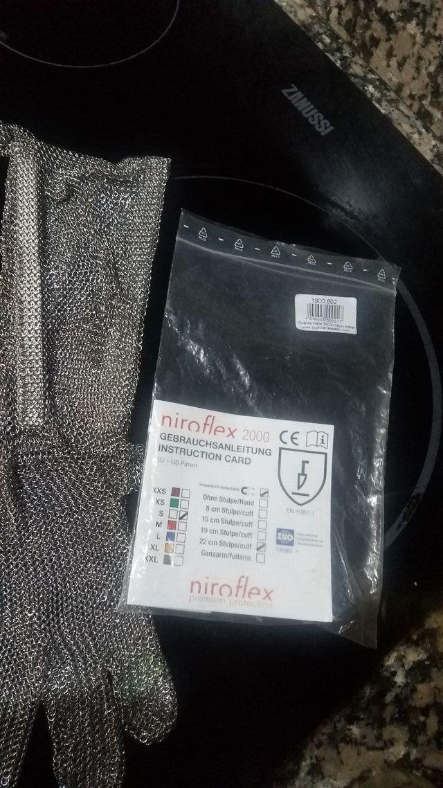guantes de malla carnicero
