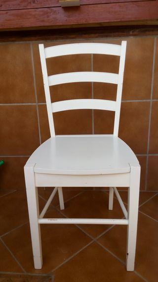 silla de madera blanca de diseño Silla de madera