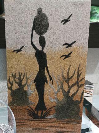 cuadros hecho con arena
