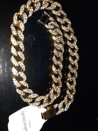 collar hombre trap color oro