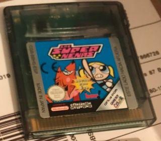 Videojuego Las super nenas para Game Boy