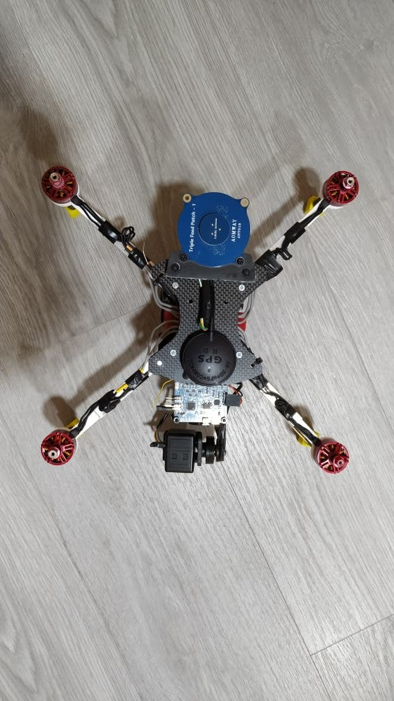 Dron cuadricoptero