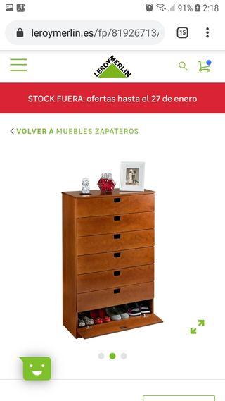 Mueble Zapatero. Cambio de decoracion