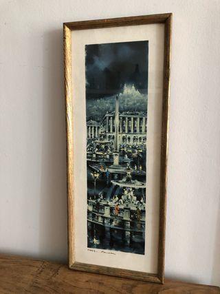 Cuadro vintage París 23 x 60