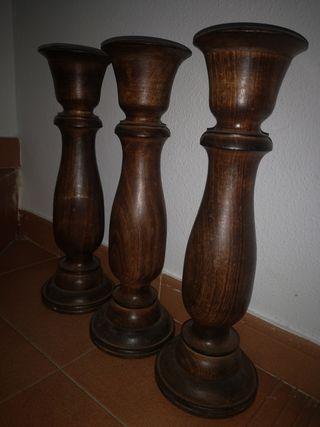 candelero para madera 45 cm alto y 13 cm de ancho