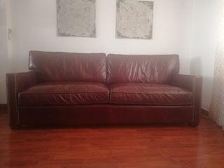 sofá piel corte ingles