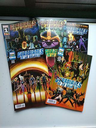 comics Guardianes de la galaxia 1 a 6