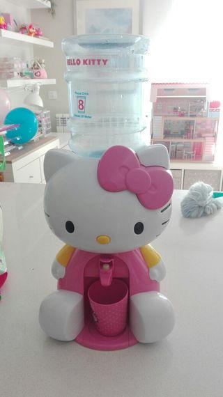 dispensador de agua hello kitty para niños