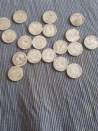 vendo 19 monedas de plata
